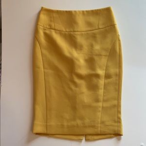 The Limited Honey Yellow Textured Pencil Skirt